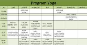 Program Yoga Ianuarie